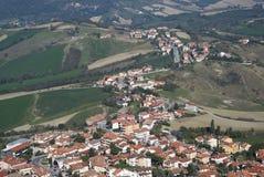 San Marino urban hillside Royalty Free Stock Photos