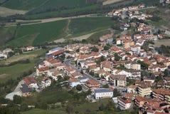 San Marino urban hillside Royalty Free Stock Image