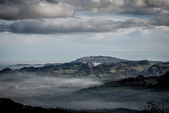 San Marino and Valmarecchia, panoramic view Stock Images