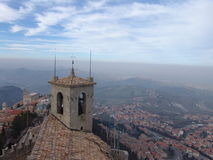 San Marino. View of city. Bell tower Stock Photography