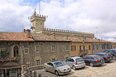 San Marino. View of city parking Stock Images