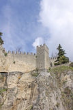 San Marino. View of city streets. Fortress tower Royalty Free Stock Photo
