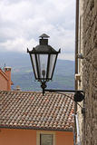 San Marino. View of city streets with light Royalty Free Stock Photo