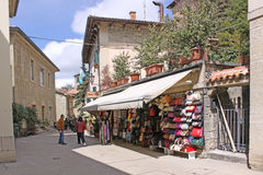 San Marino. View of city streets. Shops Stock Photography