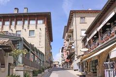 San Marino. View of city streets. Shops Royalty Free Stock Photos
