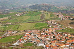 San Marino - View from Monte Titano. Stock Photo