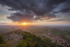 San Marino, View from the Monte Titano Stock Image