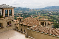 San Marino. View of the State-fortress of San Marino and the neighborhood Stock Image
