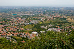 San Marino. View of the State-fortress of San Marino and the neighborhood Stock Photography