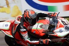 San Marino Włochy, Maj 11 -, 2018: Jordi Torres MV Agusta 1000 F4 MV Agusta Reparto Corse ESP drużyna w akci, Obraz Stock