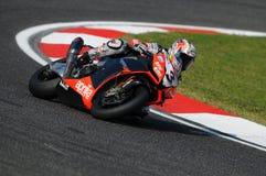 San Marino, Włochy - Sept 26, 2009: Aprilia RSV4 fabryka Aprilia Bieżna drużyna, jadąca Max Biaggi Obraz Stock