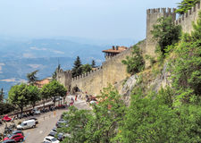 San Marino - Wall of the Castle Royalty Free Stock Image