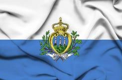 San Marino waving flag stock illustration