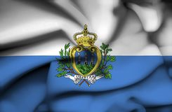 San Marino waving flag royalty free illustration