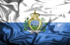 San Marino waving flag vector illustration