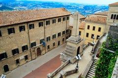 San Marino widok od above Jeden przyciągania Zdjęcia Royalty Free