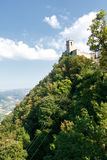 San- Marinoerster Kontrollturm stockfotos