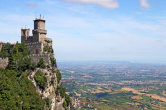 San- Marinofestungslandschaft Stockbild