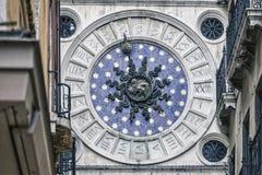 San Mark`s astronomical clock stock images