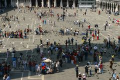 San Mark's square. Aerial view of San Marco Square Stock Photo