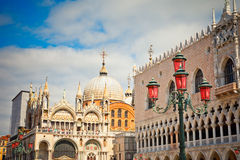 San Marko cathedral and doge palace. Venice Royalty Free Stock Image