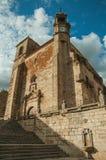 San Martin bellow i kościół górujemy przy placu Mayor Trujillo zdjęcie stock