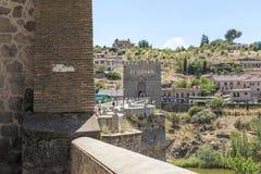 San Martin Bridge over the River Tajo, Toledo stock photography