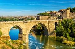 San Martin bridge in Toledo, Spain Royalty Free Stock Photography