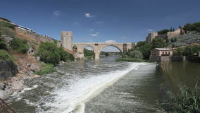 San Martin Bridge in Toledo, Spain Stock Photo