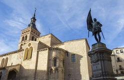 San Martin Church Segovia Stock Afbeeldingen