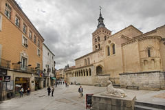 San Martin Church in Segovia, Spain Stock Image