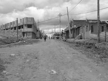 San Martin, Ecuador. The poverty-stricken neighborhood of San Martin, in greater Quito Stock Image