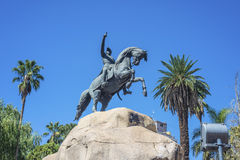 San Martin Square i Mendoza, Argentina. Royaltyfria Foton