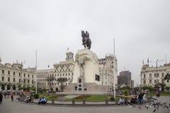 San Martin Square in Lima stockfoto
