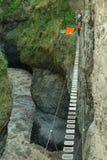 San Martin Suspended Bridge Royalty-vrije Stock Afbeeldingen