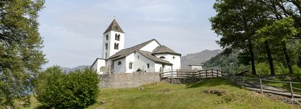 San Martino church in Calonico on Leventina valley royalty free stock images