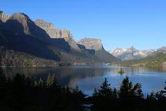 San Mary Lake del Glacier National Park Fotografie Stock Libere da Diritti