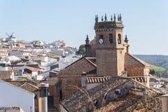 San Mateo-kerk, het dorp van La encina van Baños DE, de provincie van Jaen, SP stock afbeelding