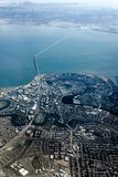 San Mateo, Redwood City och bro arkivbilder