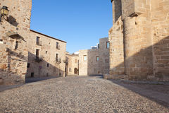 San Mateo square in Caceres, Spain. Royalty Free Stock Photography