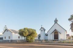San Mathews Anglican Church nella baia di Walvis fotografie stock libere da diritti