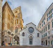 San Matteo Saint Mattew Church in Genoa historic center, Italy stock image