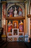 San Maurizio al monastero maggiore Milan. San Maurizio al Monastero Maggiore called Sistine Chapel of North. Great renessaince exemple. Milan. Woman portrait royalty free stock photos