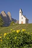 San Maurizio chapel on the Gardena Pass Stock Images