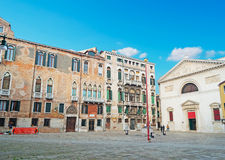 San Maurizio square Royalty Free Stock Photography