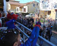 San Mauro en Signa, Tuscany, Italien traditionell karneval royaltyfri foto