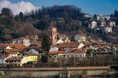 San Mauro torinese la vecchia città immagini stock libere da diritti