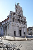San Michael in Foro in Lucca Tuscany It Royalty Free Stock Photos