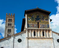 San Michel del Forno Lucca, mosaïques de l'Italie Photos stock