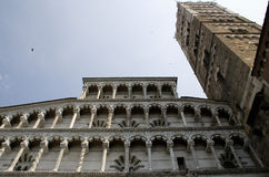 San Michele Cathedral - Lucca - Italy Stock Photos